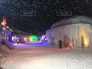 夜,夜景,冬景色,景色,イルミネーション,かまくら,層雲峡氷瀑まつり