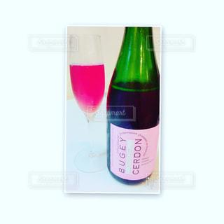 #スパークリングワイン#グラス#ピンクの写真・画像素材[315755]
