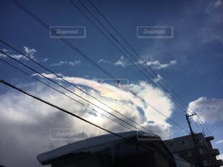 虹色の雲の写真・画像素材[1018218]