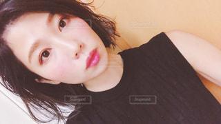 クローズ アップ撮影、selfie ピンクの髪を持つ人のの写真・画像素材[1491583]