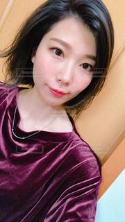 取って、selfie ピンクの髪の女の写真・画像素材[1491593]