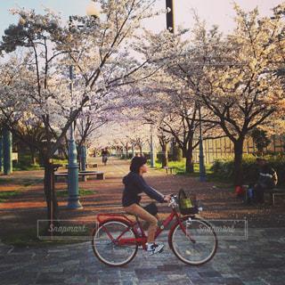 人が自転車の後ろに乗っての写真・画像素材[1146868]