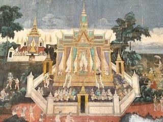 仏教絵画 カンボジアの写真・画像素材[2876421]