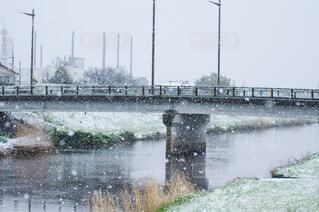 水の体に架かる橋の写真・画像素材[4226020]