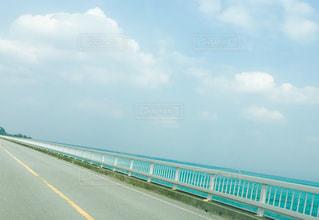 空,橋,青空,青,波,沖縄,ドライブ