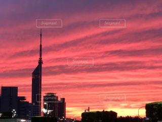 都会の夕焼けの写真・画像素材[2642493]