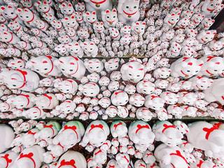 豪徳寺の招き猫の写真・画像素材[1015022]