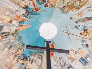 マゼランクロスと天井絵の写真・画像素材[1048820]