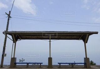 一度は降りてみたい駅「下灘駅」の写真・画像素材[1121088]