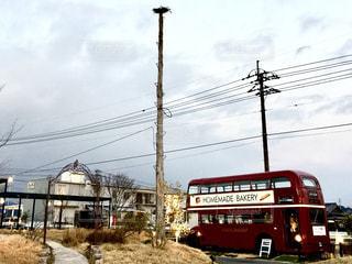 通りの 2 階建てバス 1の写真・画像素材[975633]