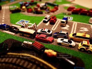 ミニカー大渋滞の写真・画像素材[1807195]