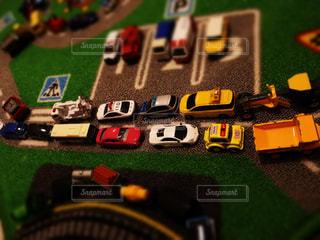 ミニカー大渋滞の写真・画像素材[1807209]