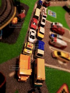ミニカー大渋滞の写真・画像素材[1807210]