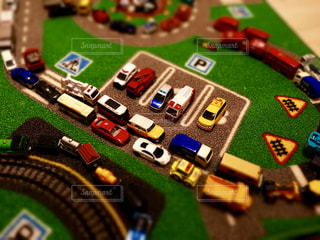 ミニカー大渋滞の写真・画像素材[1807211]