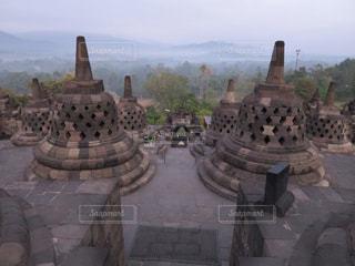 ボロブドゥールの朝景色の写真・画像素材[752356]