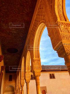 宮殿内回廊の写真・画像素材[2678448]