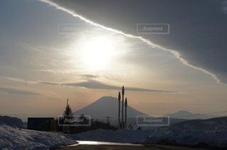 中山峠からの羊蹄山と地震雲 - No.325617
