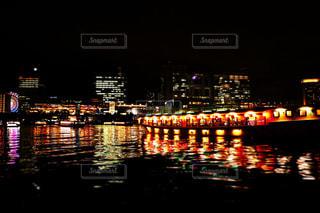 屋形船から見えるお台場の夜景の写真・画像素材[757834]