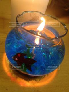 青色光とガラスの写真・画像素材[822539]