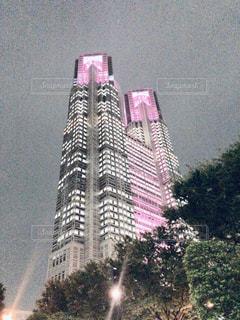 市の塔都庁ライトアップの写真・画像素材[1592411]