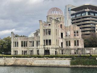 原爆ドームとおりづるタワーの写真・画像素材[1758438]