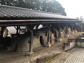 益子焼 登り窯の写真・画像素材[3007368]