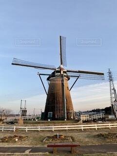 佐倉ふるさと公園 オランダ風車の写真・画像素材[4158055]