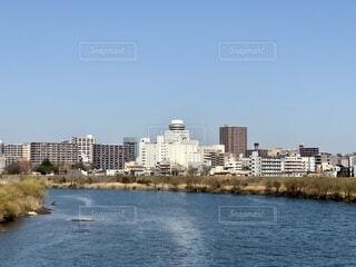 江戸川から見る松戸の写真・画像素材[4213523]