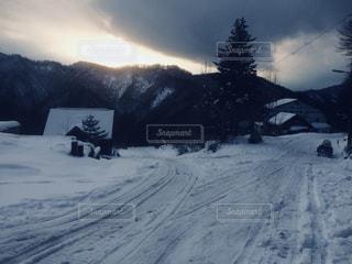 雪国の夕陽 - No.903206