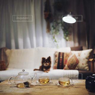 ハーブティーでおやすみの写真・画像素材[2088677]