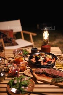 キャンプ飯🏕の写真・画像素材[2446485]