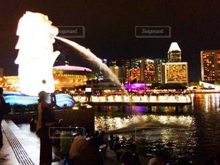 シンガポールのマーライオンの写真・画像素材[337387]