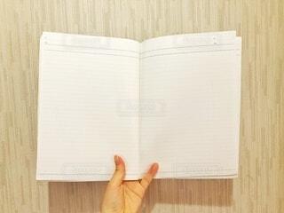 見開きのノートブックの写真・画像素材[4754515]