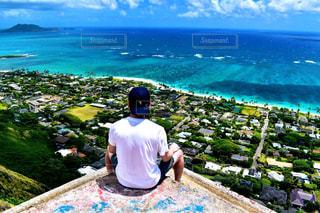 ピルボックスからのラニカイビーチの写真・画像素材[1276265]