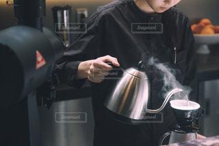 "CAFE ""barista""の写真・画像素材[2405354]"
