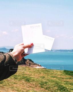 豊島美術館と海の写真・画像素材[1123911]