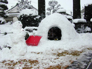 冬,雪,こども,遊び,かまくら