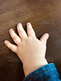 赤ちゃんのプクプクの手の写真・画像素材[1885289]