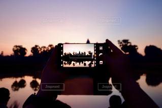 世界遺産を写真撮影の写真・画像素材[2077601]