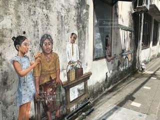 アートな壁画の写真・画像素材[1360665]