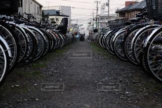 駐輪場の写真・画像素材[864964]