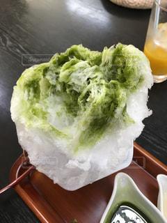抹茶のかき氷の写真・画像素材[1671296]