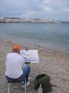 絵を描いている人の写真・画像素材[416510]