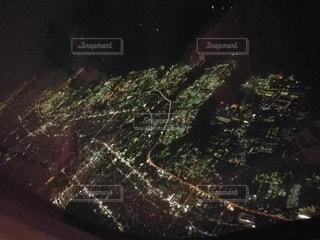 空撮夜景の写真・画像素材[2681836]