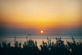 角島からの夕日の写真・画像素材[519034]