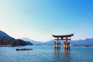 厳島神社の大鳥居の写真・画像素材[778921]