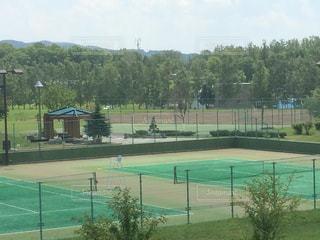 テニスコートの写真・画像素材[346066]