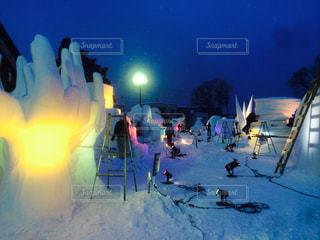 雪質日本一まつりの写真・画像素材[346072]