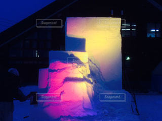 雪像ライトアップの写真・画像素材[346073]
