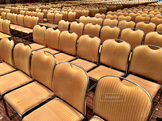 イベント会場の椅子の写真・画像素材[1430001]